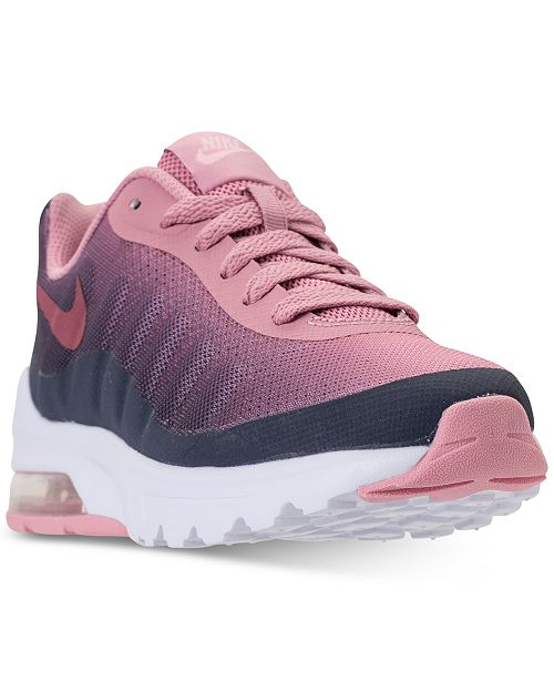 2a0a9b43d1 Nike Girls' Air Max Invigor Print Running Sneakers from Finish Line ...