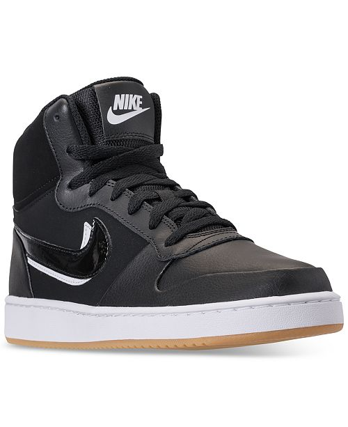63f498a8eaef Nike Men s Ebernon Mid Premium Casual Sneakers from Finish Line ...