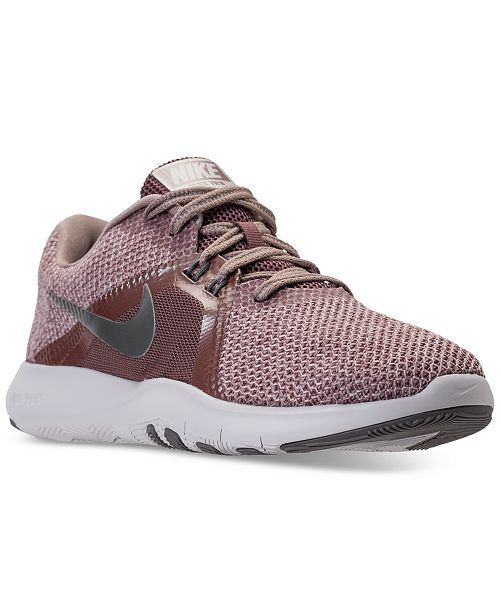 0a9b47c91cd7f ... Nike Women's Flex Trainer 8 Premium Training Sneakers from Finish ...