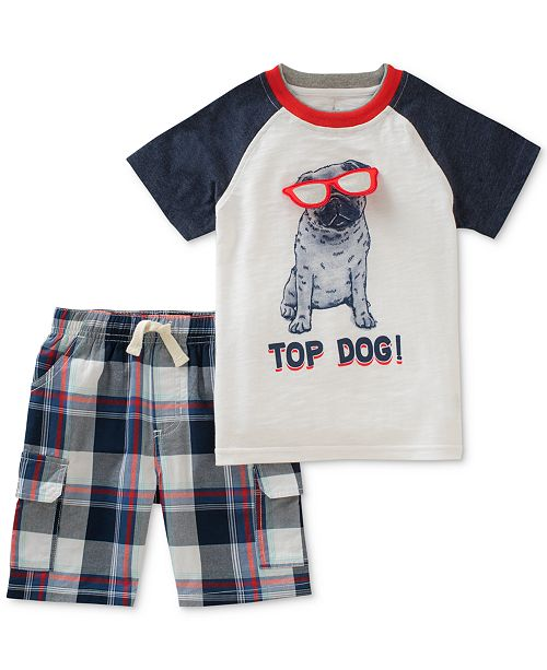 bb7d8c04b Kids Headquarters Toddler Boys 2-Pc. Graphic-Print T-Shirt   Shorts ...