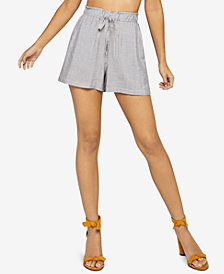BCBGeneration Striped Paperbag-Waist Shorts
