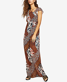 BCBGeneration Patchwork-Print Maxi Dress