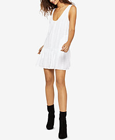 BCBGeneration Drop-Waist Embroidered Romper
