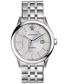 Versace Men's Swiss Automatic Aiakos Stainless Steel Bracelet Watch 44mm