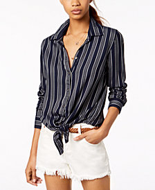 Roxy Juniors' Suburb Vibes Striped Button-Up Shirt