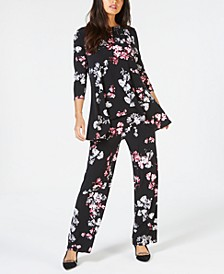 Printed Swing Top & Wide-Leg Pants, Created for Macy's