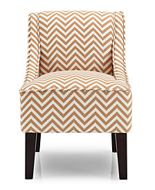 Phoenix Accent Chair, Ziggi Orange