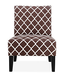 Brice Accent Chair, Brown Lattice