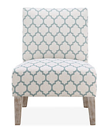 Brice Accent Chair, Sea Foam Lattice