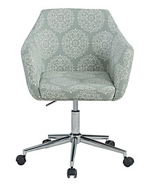 Upholstered Office Chair, Sky Medallion