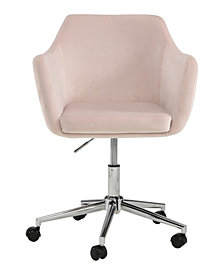 Upholstered Office Chair, Blush