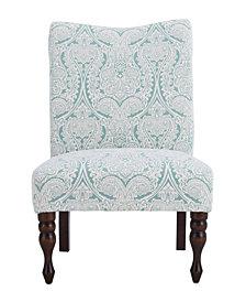 Payton Accent Chair, Paisley Mint