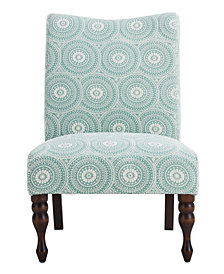 Payton Accent Chair, Medallion Mint