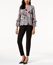 Alfani Ruffled Blouse & Skinny Pants, Created for Macy's