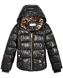 MICHAEL Michael Kors Big Girls Puffer Jacket with Removable Hood