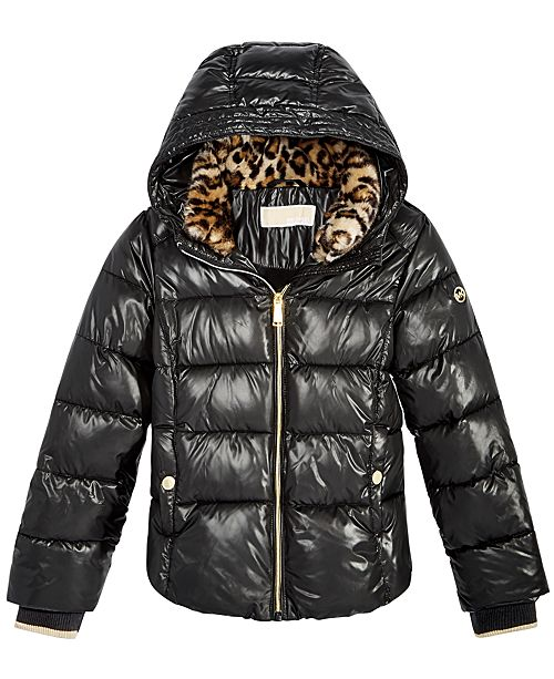 92f34e5b1af Michael Kors Toddler Girls Puffer Jacket with Hood & Reviews - Coats ...