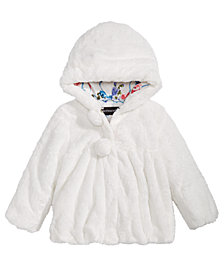 S. Rothschild Little Girls Hooded Teddy Plush Faux-Fur Jacket