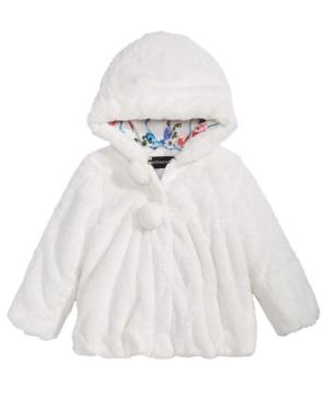 S Rothschild Toddler Girls Hooded Teddy Plush FauxFur Jacket