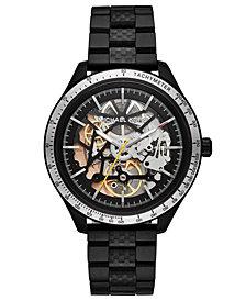 Michael Kors Men's Automatic Merrick Black Stainless Steel Bracelet Watch 44mm