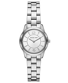 Michael Kors Women's Mini Runway Stainless Steel Bracelet Watch 28mm