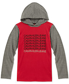 Calvin Klein Big Boys Colorblocked Cotton Hoodie