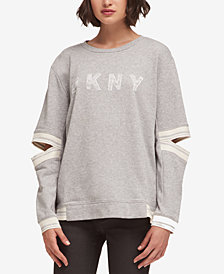DKNY Split-Sleeve Logo Sweatshirt, Created for Macy's