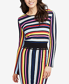 RACHEL Rachel Roy Multi-Stripe Sweater, Created for Macy's