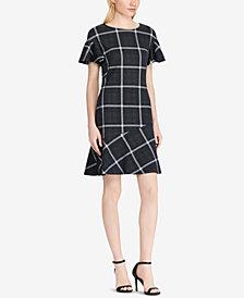 Lauren Ralph Lauren Fit & Flare Flutter-Sleeve Dress