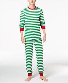 matching family pajamas mens holiday stripe pajama set created for macys