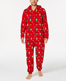 Matching Family Pajamas Men's Elf Hooded One-Piece, Created For Macy's