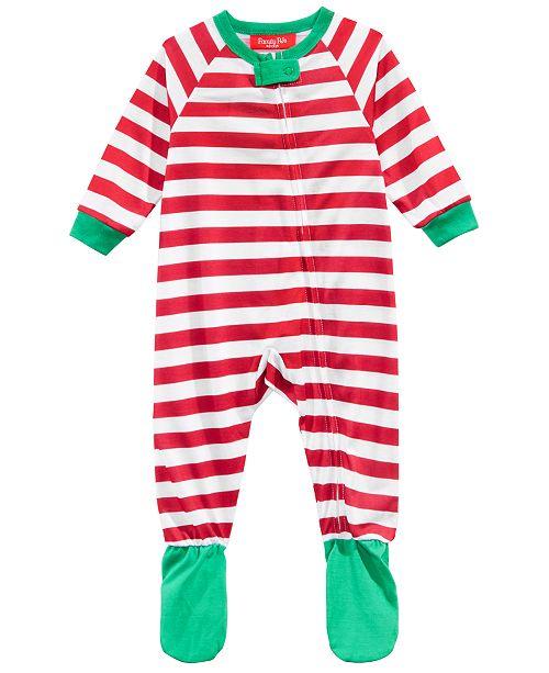 6f7f76132ba8 Family Pajamas Matching Infant Holiday Stripe Footed Pajamas ...