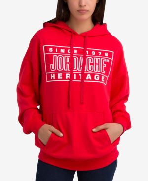Kristin Graphic Hoodie in Red