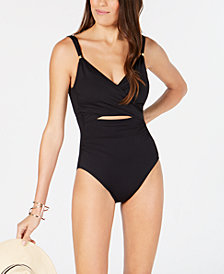 Lauren Ralph Lauren Beach Cut-Out Tummy-Control One-Piece Swimsuit
