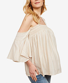 Jessica Simpson Maternity Smocked Off-The-Shoulder Blouse