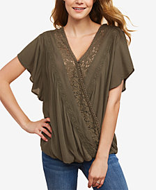 Jessica Simpson Faux-Wrap Nursing Top