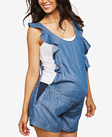 Motherhood Maternity Chambray Romper
