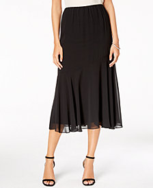 Alex Evenings Chiffon Petite Midi Skirt