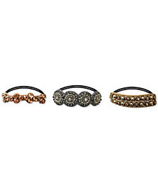 Deepa 3-Pc. Set Metallic Embellished Hair Ties