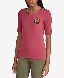 Lauren Ralph Lauren Bullion Stretch Top