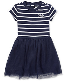 Ralph Lauren Baby Girls Striped Shirtdress