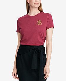 Lauren Ralph Lauren Beaded Logo T-Shirt, Created for Macy's