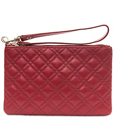 Quilted Leather Medium Wristlet