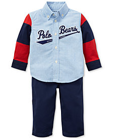 Ralph Lauren Baby Boys Oxford Shirt & Pants