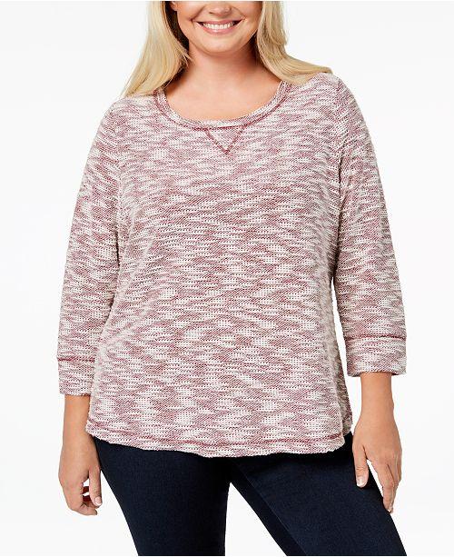 ac49caea9589d Karen Scott. Plus Size Textured Sweatshirt Top