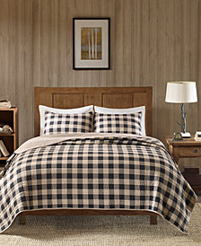 Woolrich Buffalo Check Reversible 3-Pc. Oversized Full/Queen Quilt Mini Set