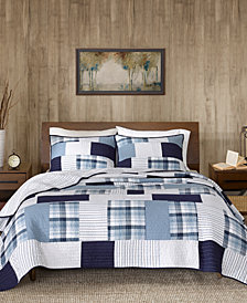 Woolrich Riverview Reversible 3-Pc. Oversized Full/Queen Quilt Mini Set