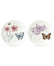 Butterfly Meadow Porcelain 2-Pc. Coaster Set