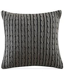 Williamsport Cable-Knit European Sham