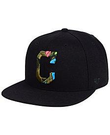 '47 Brand Cleveland Indians Camfill Neon Snapback Cap