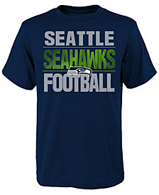 Outerstuff Seattle Seahawks Light Streaks T-Shirt, Big Boys (8-20)